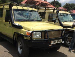 Rwanda Safari Jeep land cruiser