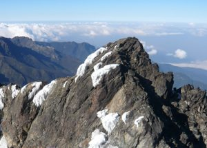 Top peak of mountain Rwenzori