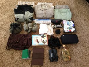 packing for an african gorilla & Wildlife Safari